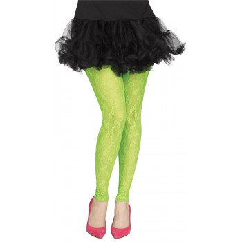 Footless Green Lace 80's Adult Tights.jpg