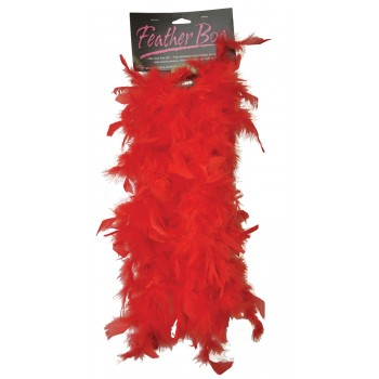1920's Flapper Women's 6ft Red Feather Boa Costume Accessory.jpg