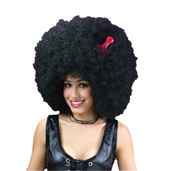 1960s 1970s Funk Disco Super Jumbo Adult Afro Wig Black.jpg