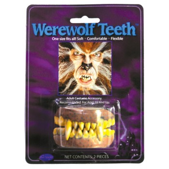 Adult Werewolf Yellow Teeth with Fangs Costume Accessory.jpg