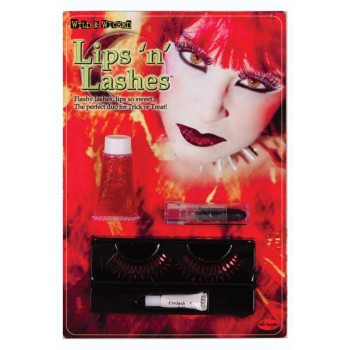Lips and Lashes Devil Red Women's Costume Accessory Kit.jpg