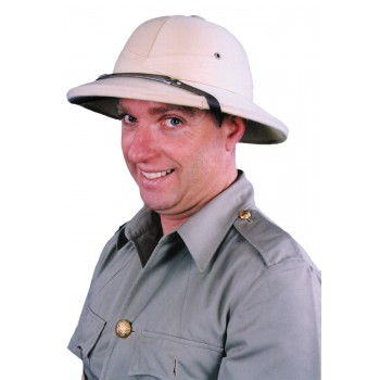 Adult English British Military Pith Hat French Khaki.jpg