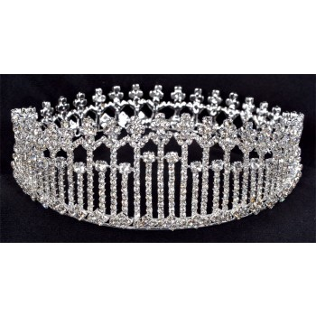 Adult Royal Queen Crown Womens Costume Tiara 3 Inch .jpg
