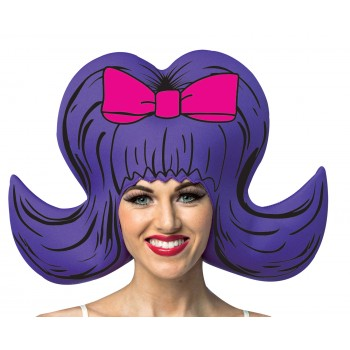 Comic Wig Bouffant Adult Purple.jpg