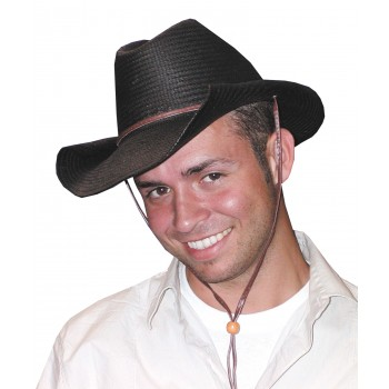 Adult Gunslinger Western Cowboy Rolled Hat Black.jpg