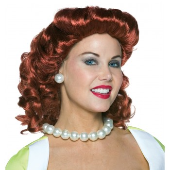 Vintage Housewife Wig Red Adult Costume Accessory.jpg