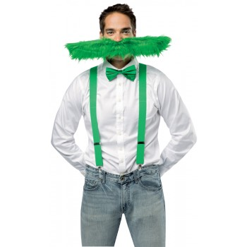 Green Super Stache Adult Funny Accessory 20 Inch .jpg