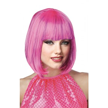 1920s Flapper Shimmering Bob Wig With Bangs Pink.jpg