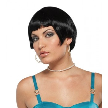 Fresh Flirty Short Wig Women's Flapper Costume Black Hair.jpg