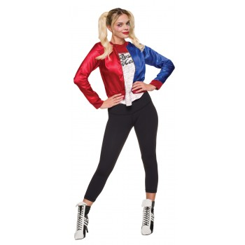 Suicide Squad Harley Quinn Jacket Shirt Teen Costume Kit.jpg