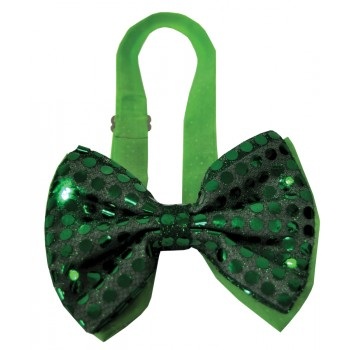 Light Up Sequin Bow Tie Stag Costume Party Accessory Green.jpg