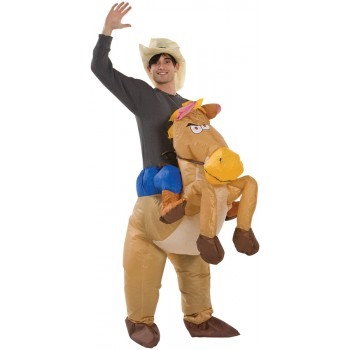 Riding On Horse Funny Inflatable Cowboy Costume Adult.jpg