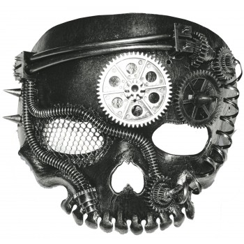Steampunk No Jaw Skeleton Mask Adult Costume Accessory.jpg