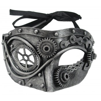 Steel Look Steampunk Gear Mask Adult Costume Accessory.jpg