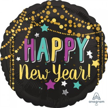 Happy New Year Festive Design 45cm Foil Balloon.jpg
