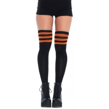 3 Stripes Athletic Ribbed Thigh Highs Adult Costume Accessory.jpg