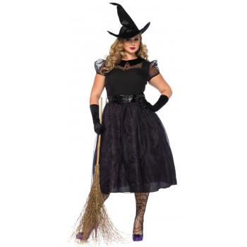 Witch Darling Spellcaster Adult Plus Costume.jpg