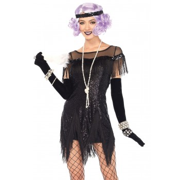 Flapper Foxtrot Flirt Black Adult Costume.jpg