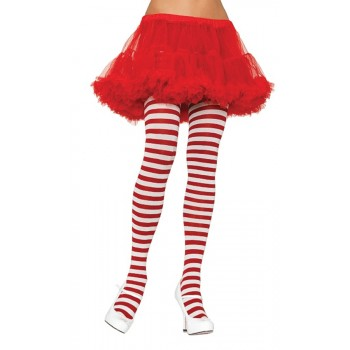 Tights Striped Christmas Elf Costume Stockings White & Red.jpg