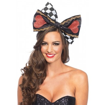 Wonderland Oversized 2 Use Adult Bow Headpiece Costume Accessory.jpg