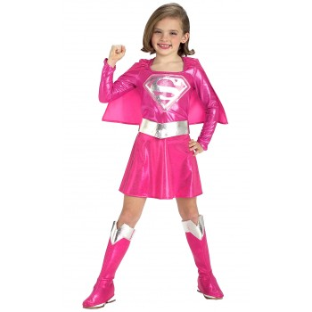 Pink Supergirl Toddler / Child Girl's Costume.jpg