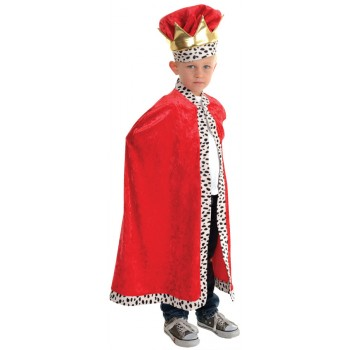 Royal King Dress Up Red Child Costume Cape.jpg
