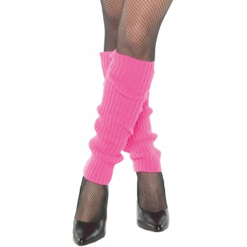 Neon Pink Leg Warmers Adult Costume Accessory.jpg