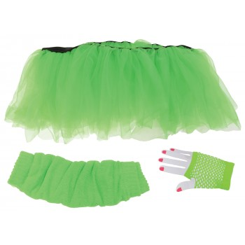 Neon Green Tutu Set Adult Costume Kit.jpg