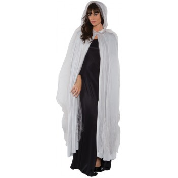 Full Ghost Cape Adult Fancy Dress Costume Accessory Grey.jpg