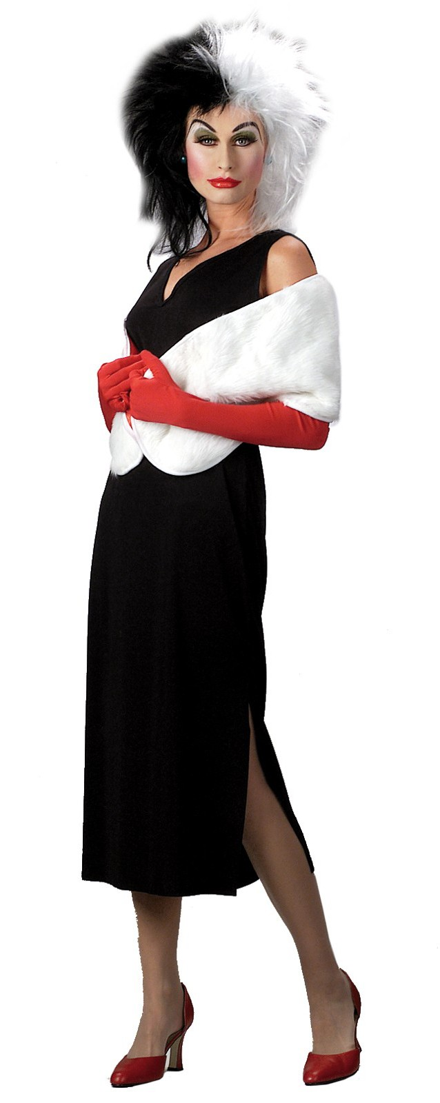 101 dalmatians disney cruella de vil adult costume. Black Bedroom Furniture Sets. Home Design Ideas