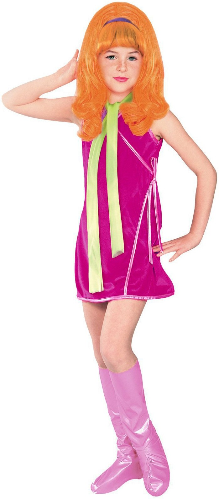 Scooby-Doo Daphne Costume Adult Women/'s Halloween Fancy Dress Licensed Outfit