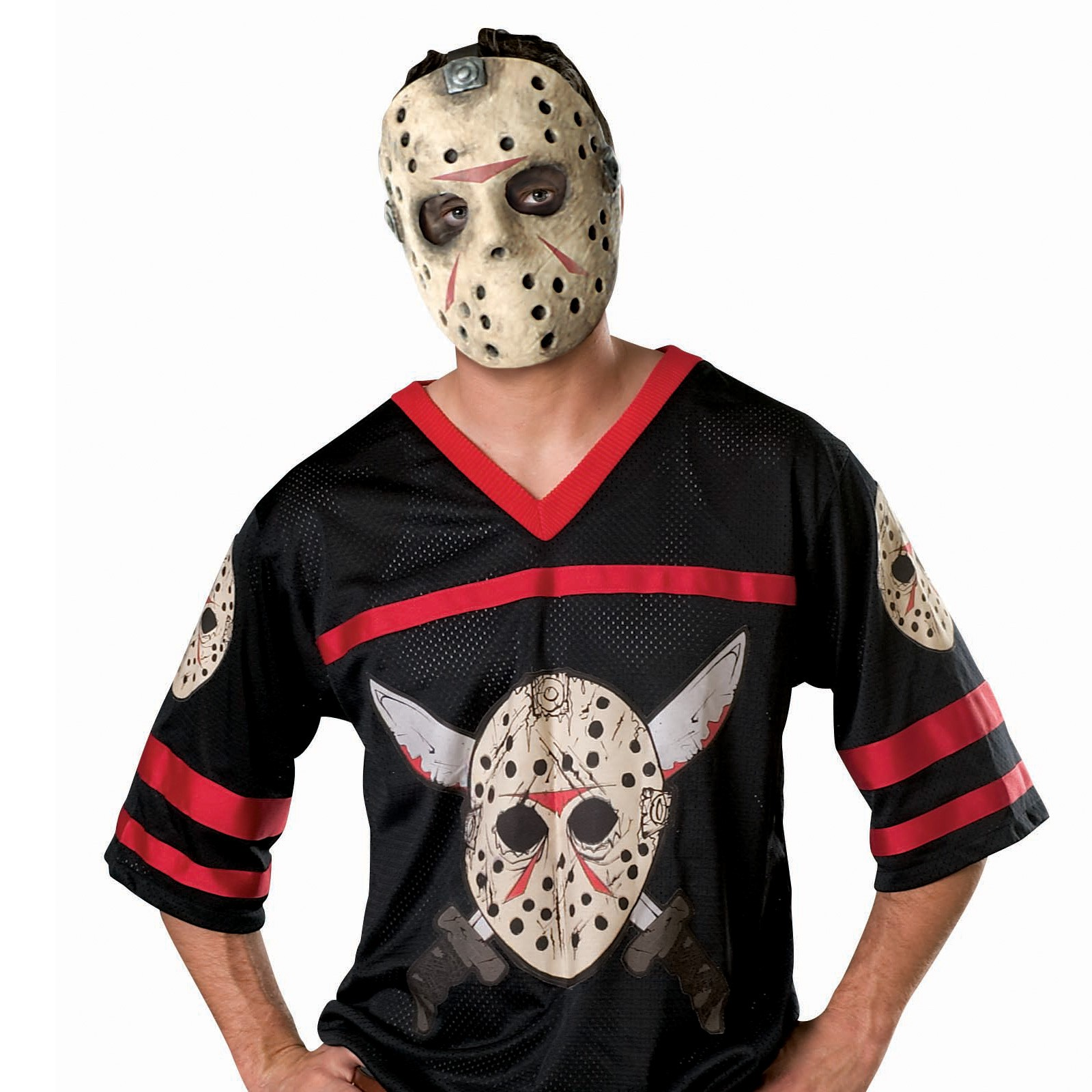 Friday the 13th Jason Hockey Jersey with Mask Adult Costume ...