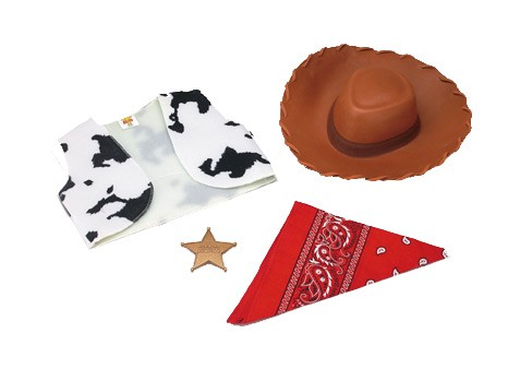 Woody Kit Adult Deluxe Toy Story Disney Cowboy Hat Sheriff