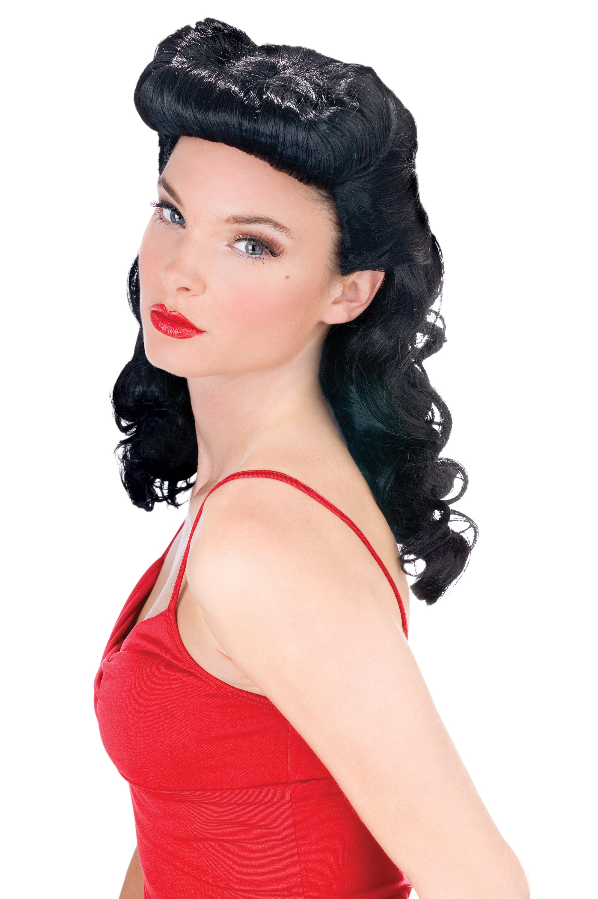Bettie Page Burlesque Wig Women's Costume Accessory ...