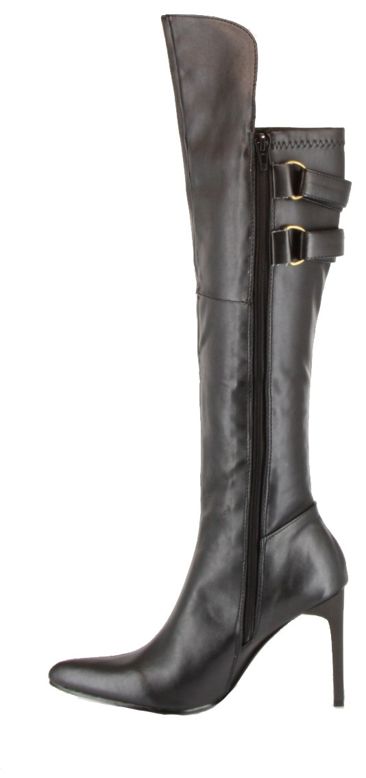 Cool Pirate Boots Womens 7 M B Knee High Leather Boots Black Leather Gothic