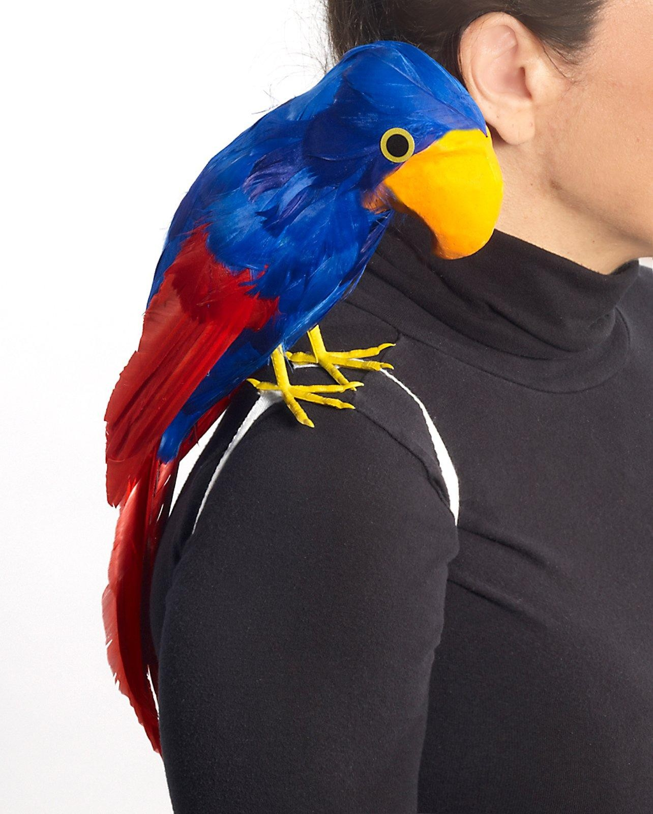 Adult parrot costume was specially