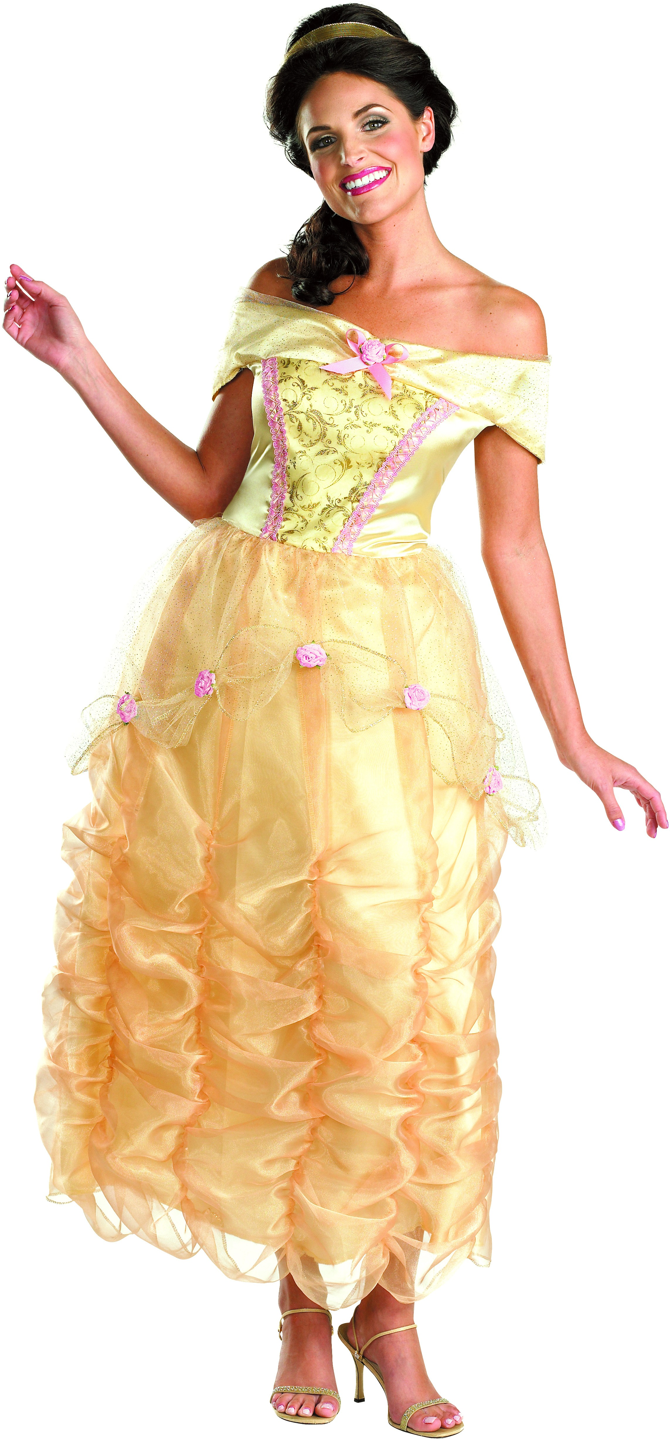 beauty and the beast belle deluxe adult women's costume | costumes