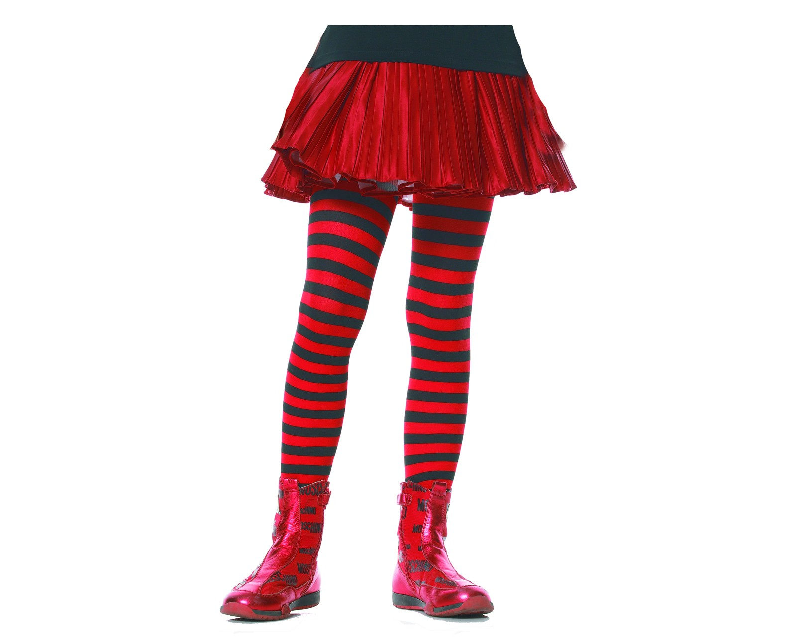 black/red striped dancer tights girl's halloween costume accessory