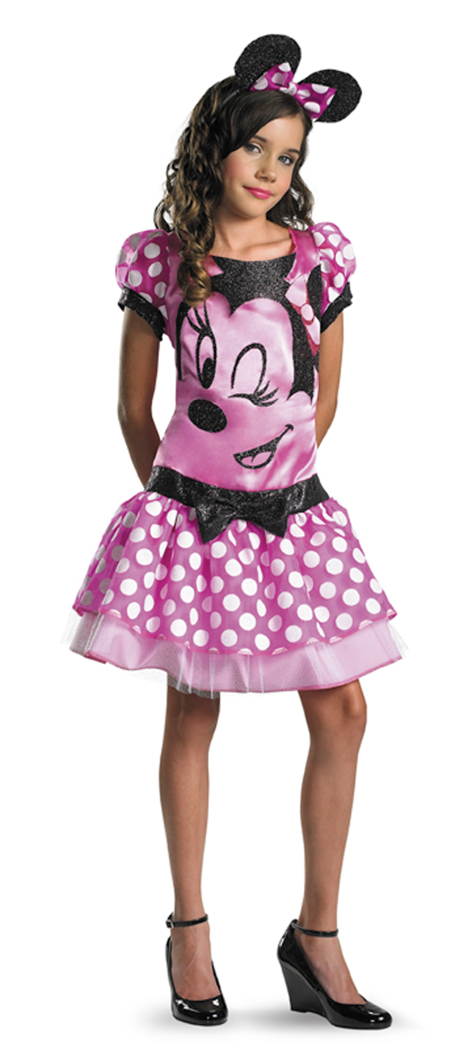 mickey mouse clubhouse pink minnie mouse child girl 39 s costume. Black Bedroom Furniture Sets. Home Design Ideas