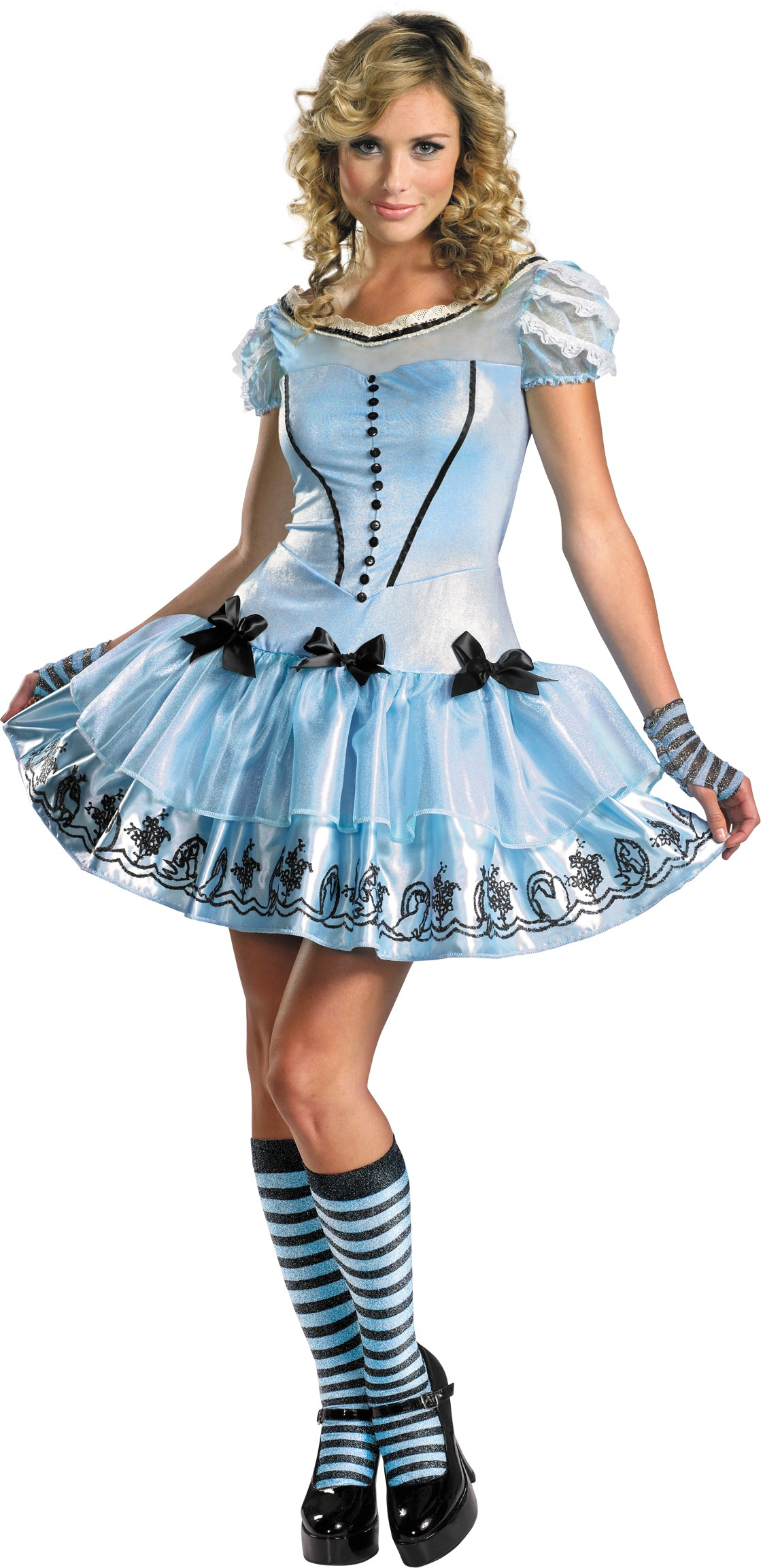 Alice In Wonderland Movie - Sassy Blue Dress Alice Adult Womenu0026#39;s Costume | Costumes.com.au