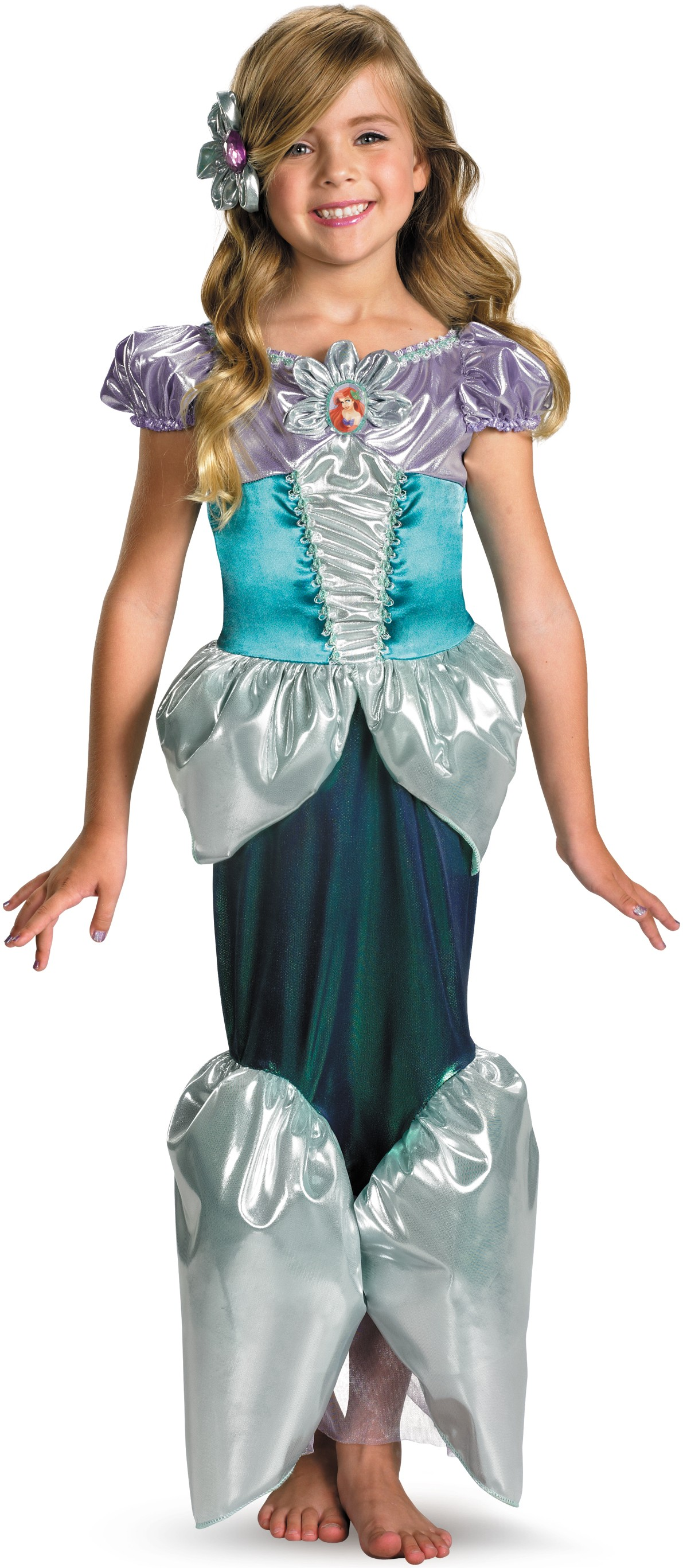 Disney The Little Mermaid Princess Ariel Lame Deluxe Toddler / Child Girlu0027s Costume.jpg  sc 1 st  Costumes.com.au : toddler mermaid halloween costume  - Germanpascual.Com