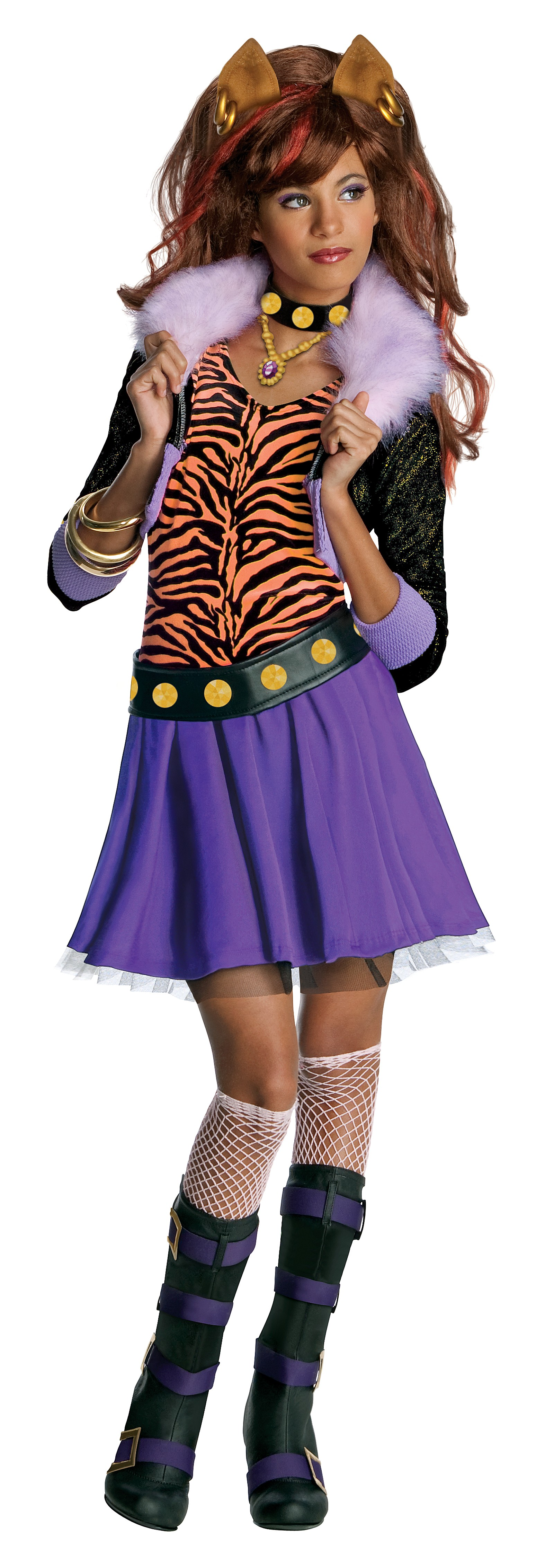 Children 39 s monster high clawdeen wolf girl 39 s costume - Clawdeen wolf pyjama party ...