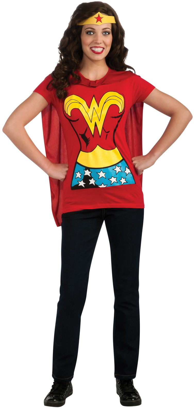 Wonder woman t shirt adult women 39 s costume kit costumes for Wonder woman book shirt