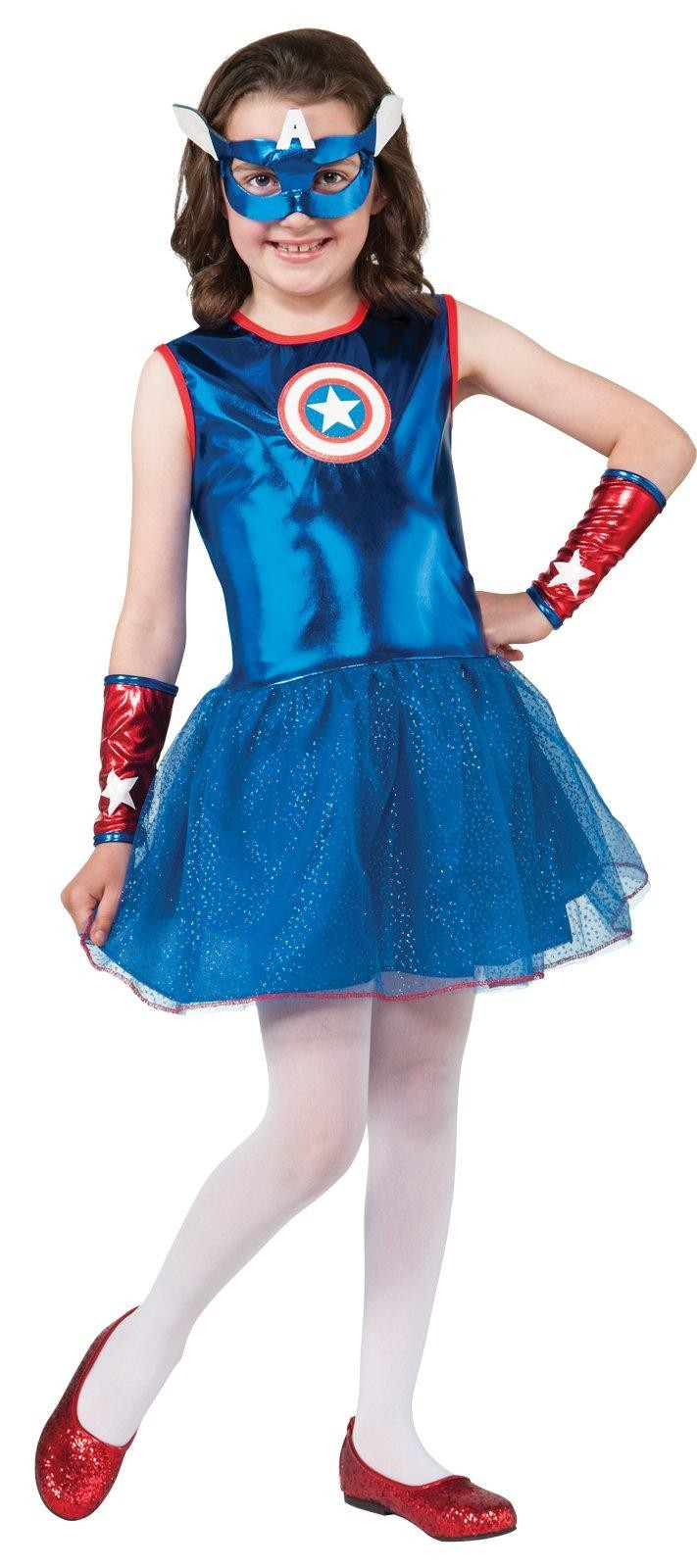 Marvel Captain America Child Girl's Costume - Costumes.com.au
