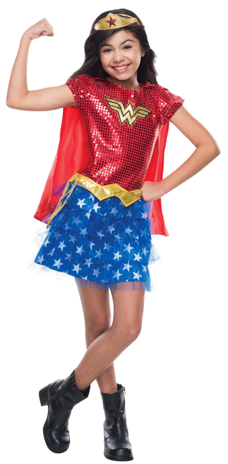 The Justice League DC Comics Wonder Woman Child Costume is the perfect Halloween costume for you. Show off your Girls costume and impress your friends with this top quality selection from Costume SuperCenter!5/5(1).