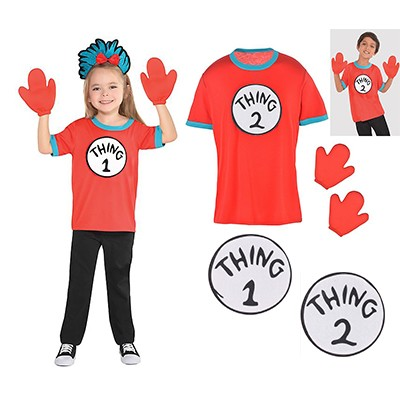 fc15174f Dr. Seuss The Cat in the Hat Thing 1 & 2 Child Costume Kit ...