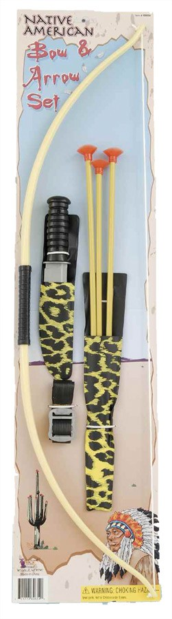 Adult Native American Indian Bow and Arrows Costume Toy Set