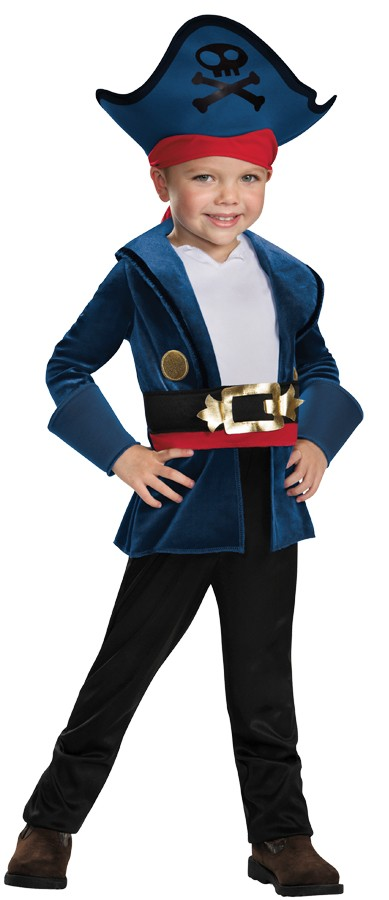 Captain Hook Jake Never Land Pirates Disney Halloween Toddler Child Costume
