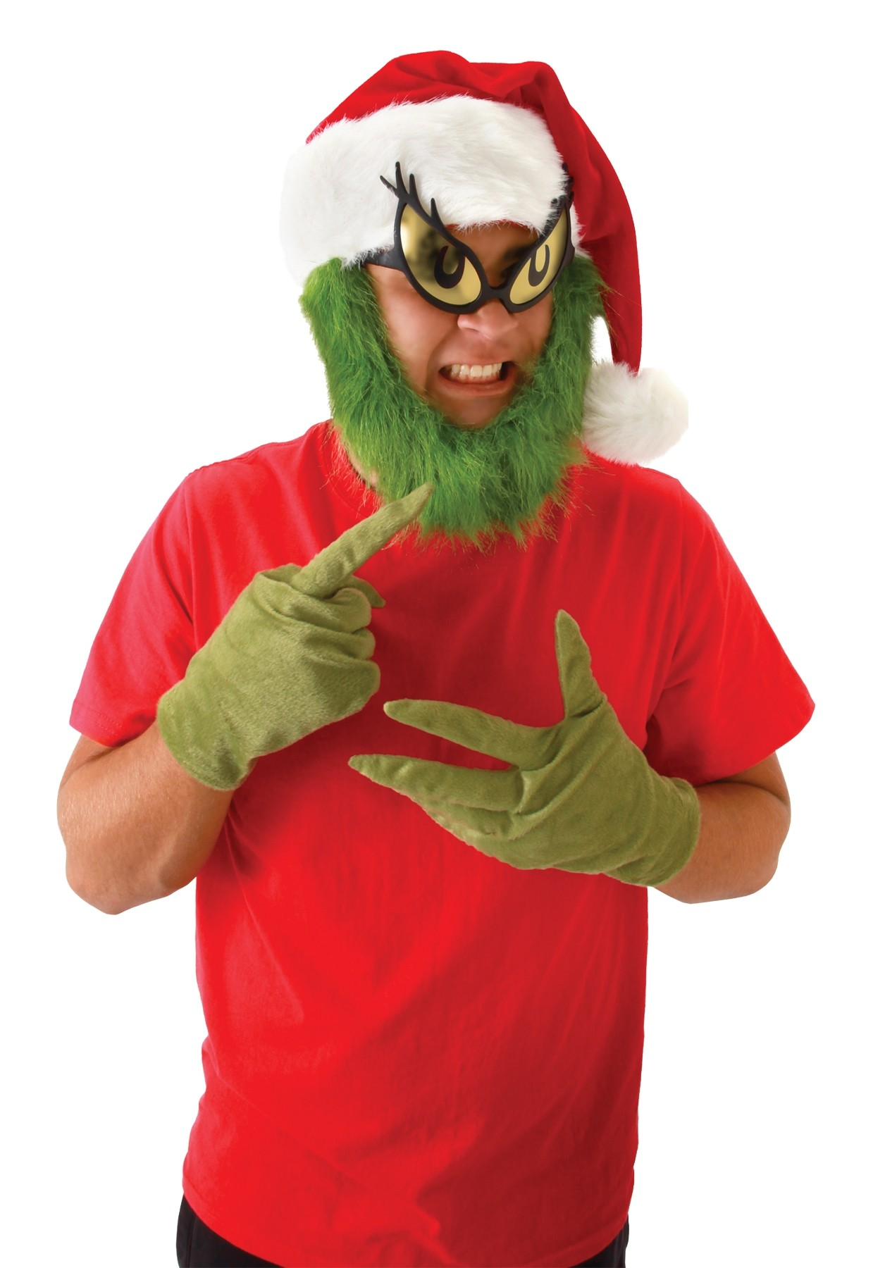 cb30400cf0034 How the Grinch Stole Christmas Grinch Hat With Beard Adult Costume Accessory .jpg