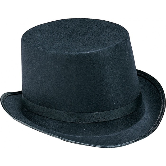 Black Derby Hat Halloween Party Costume Accessory 23.5 inches NeW